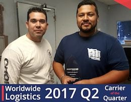 Worldwide Logistics 2017 Carrier of the Quarter